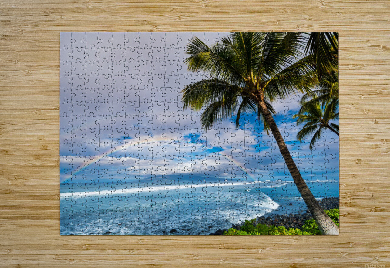 Hawaiian Landscape  HD Metal print with Floating Frame on Back