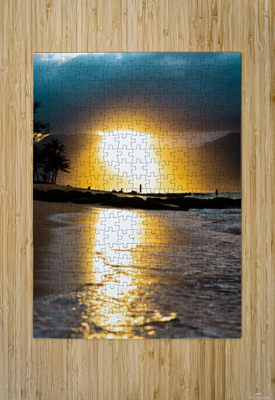 Tropical Sunset  HD Metal print with Floating Frame on Back