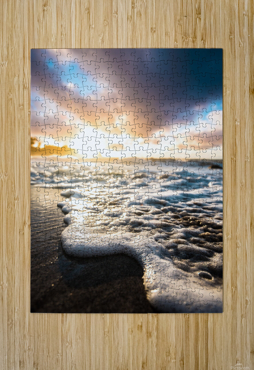 Seafoam Sunrise  HD Metal print with Floating Frame on Back