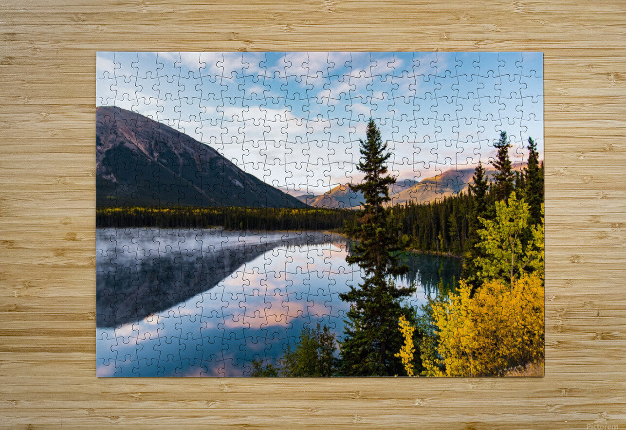 Mountains and Water  HD Metal print with Floating Frame on Back