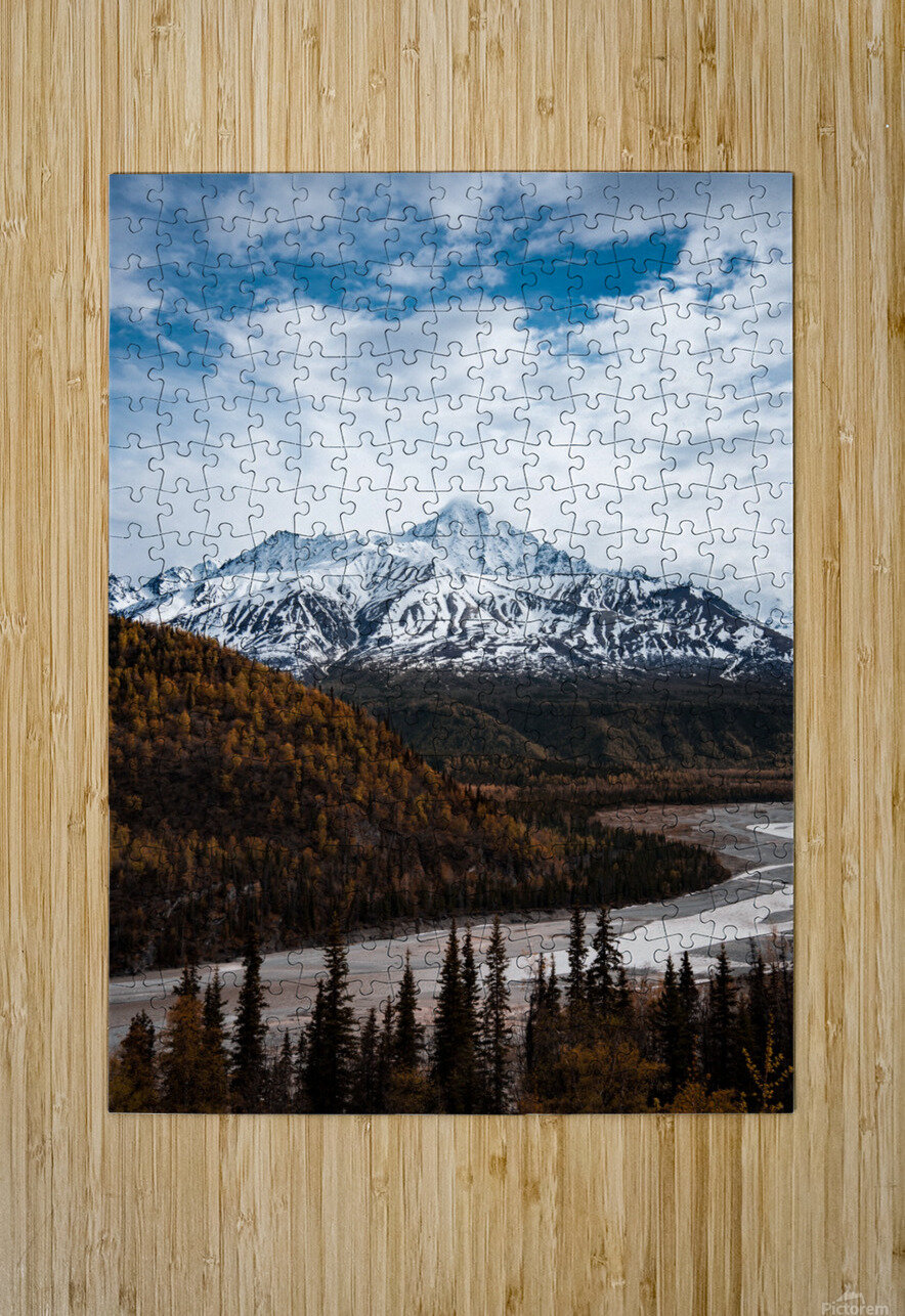 Alaskan Autumn  HD Metal print with Floating Frame on Back