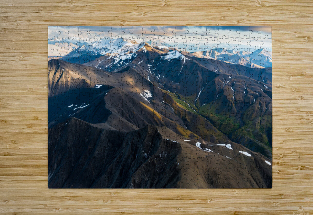 Alaskan Landscape  HD Metal print with Floating Frame on Back