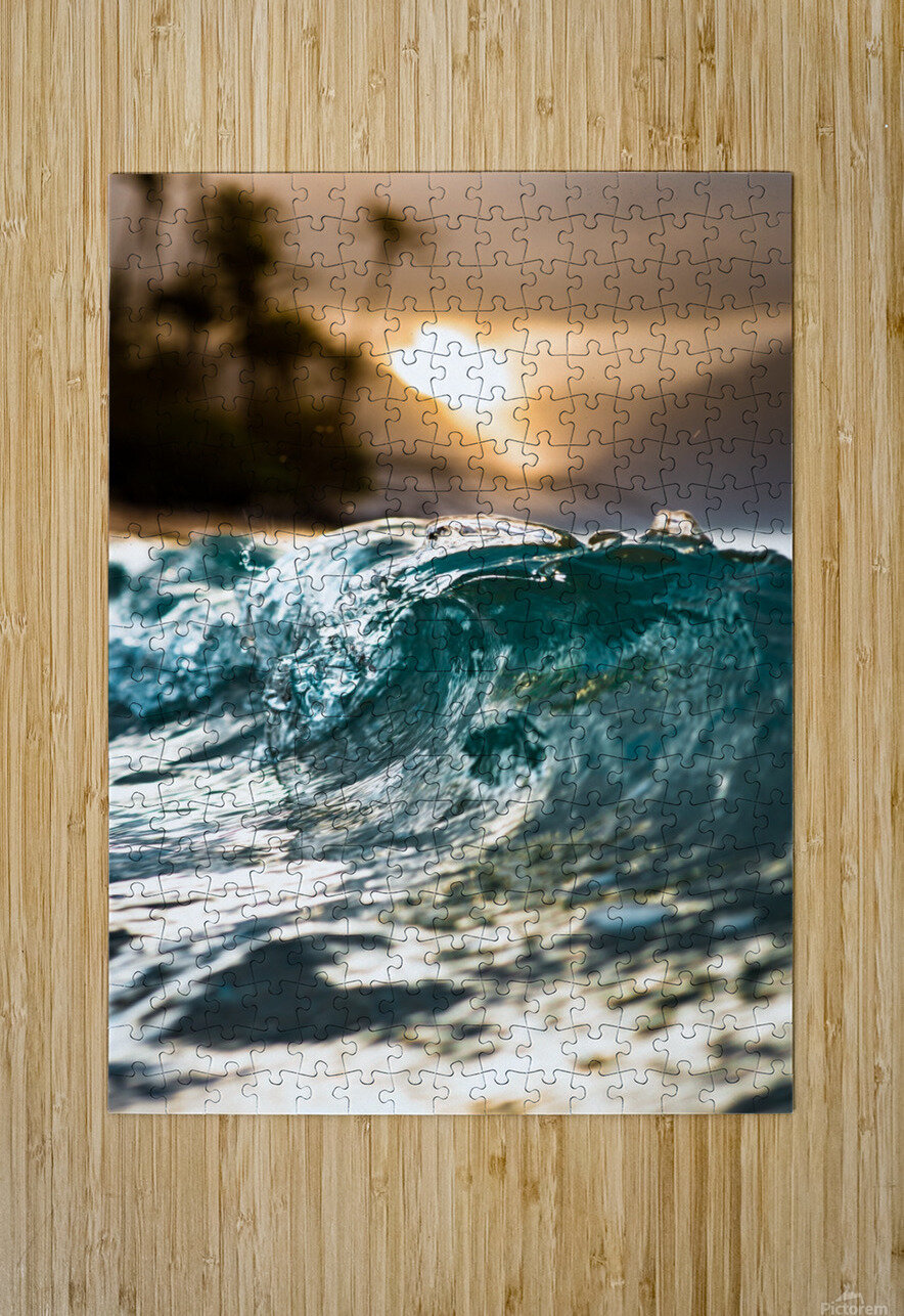 Glassy Wave  HD Metal print with Floating Frame on Back