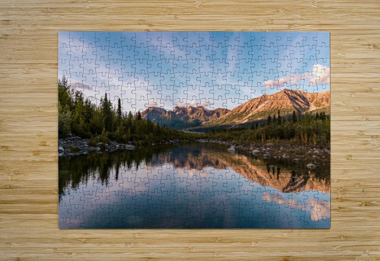 Alaskan Reflection  HD Metal print with Floating Frame on Back