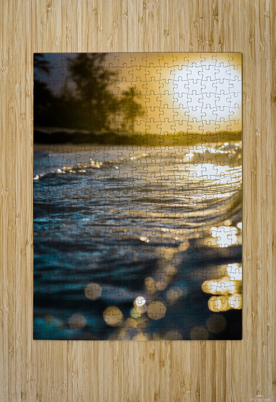 Glistening Waters  HD Metal print with Floating Frame on Back