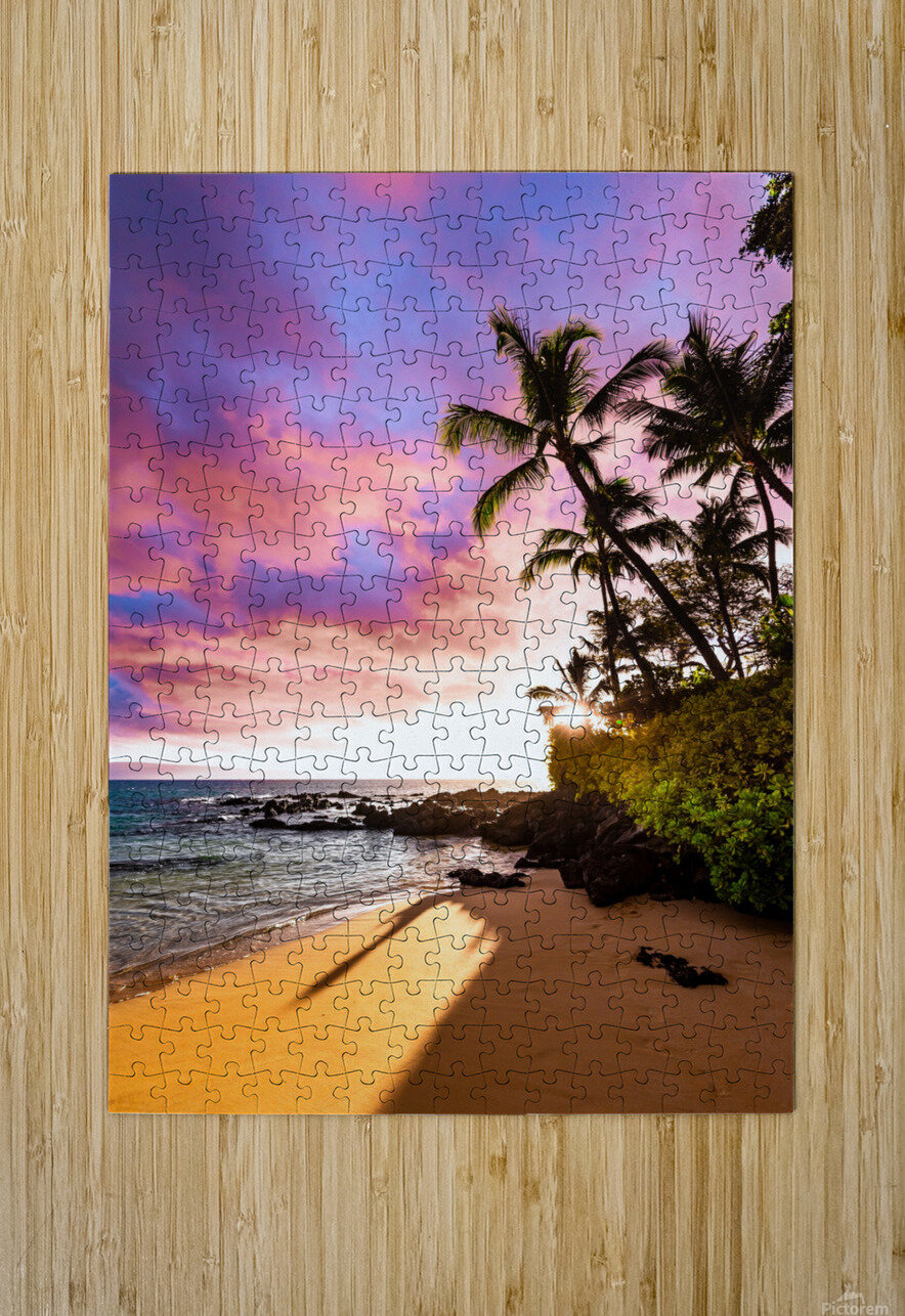 Secret Beach  HD Metal print with Floating Frame on Back