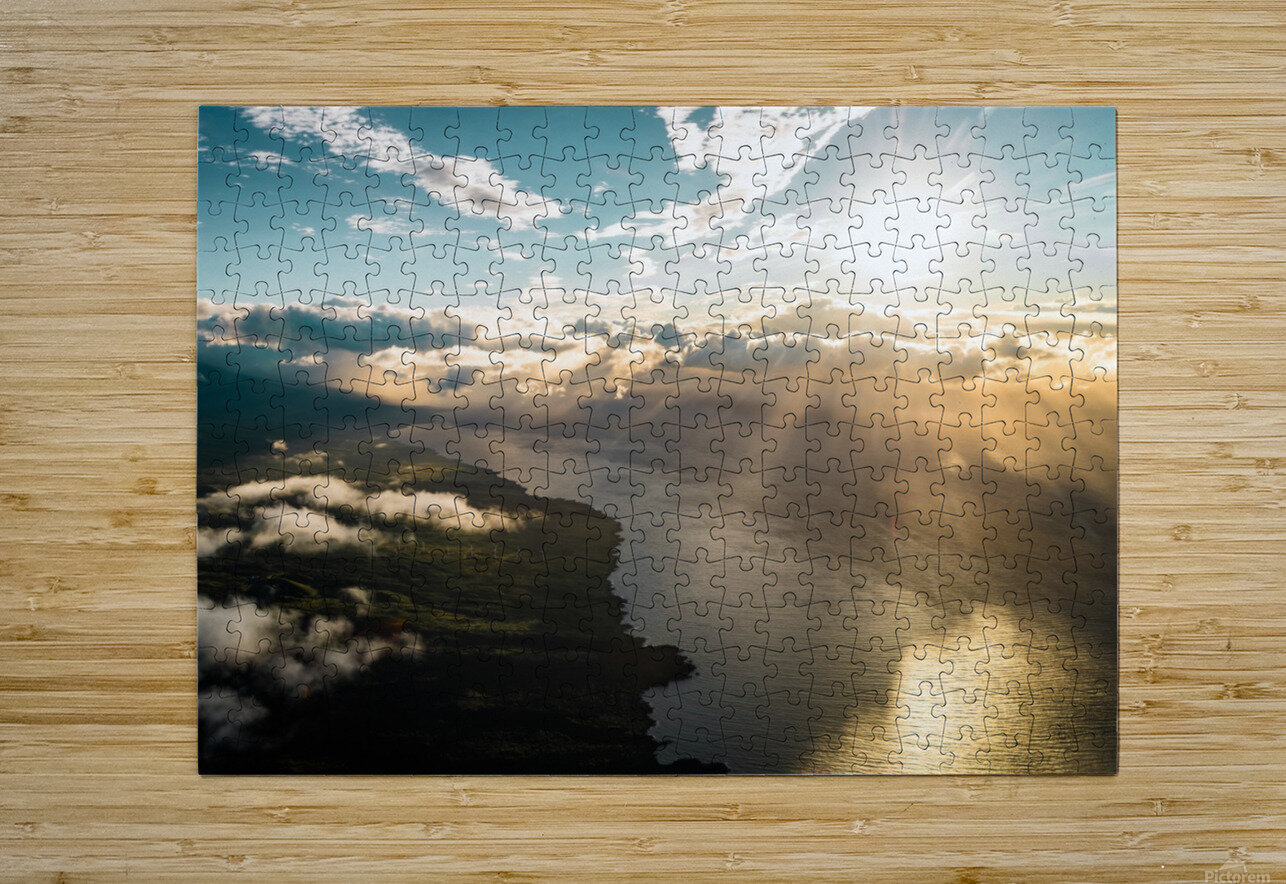 Maui From Above  HD Metal print with Floating Frame on Back