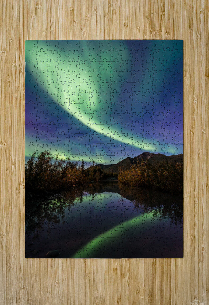 Aurora Reflections  HD Metal print with Floating Frame on Back