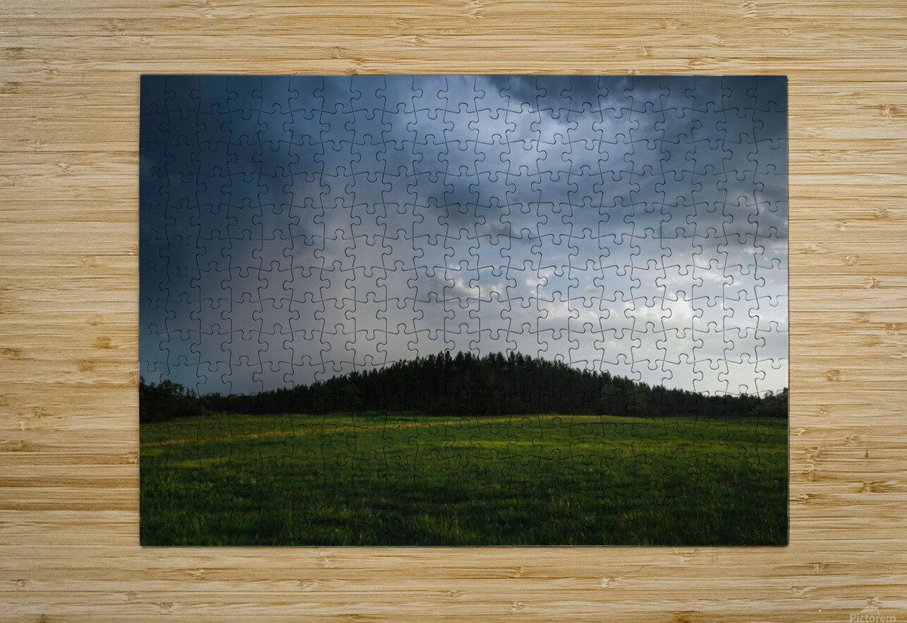 Evening Rain  HD Metal print with Floating Frame on Back