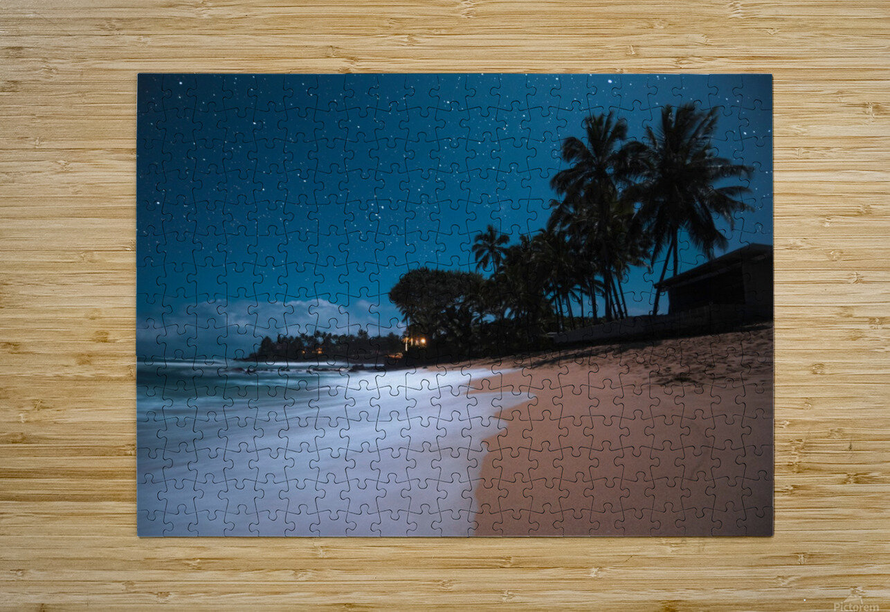 Tropical Night  HD Metal print with Floating Frame on Back