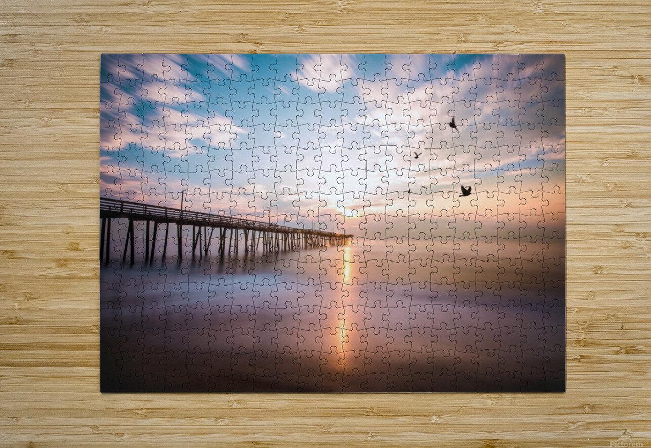 VA Beach Sunrise  HD Metal print with Floating Frame on Back