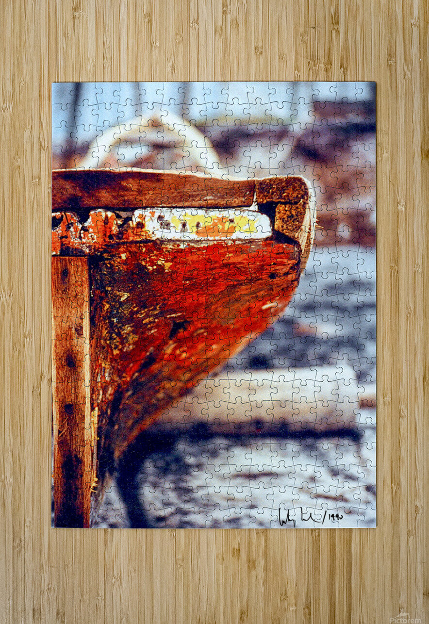 Boat - IV  HD Metal print with Floating Frame on Back