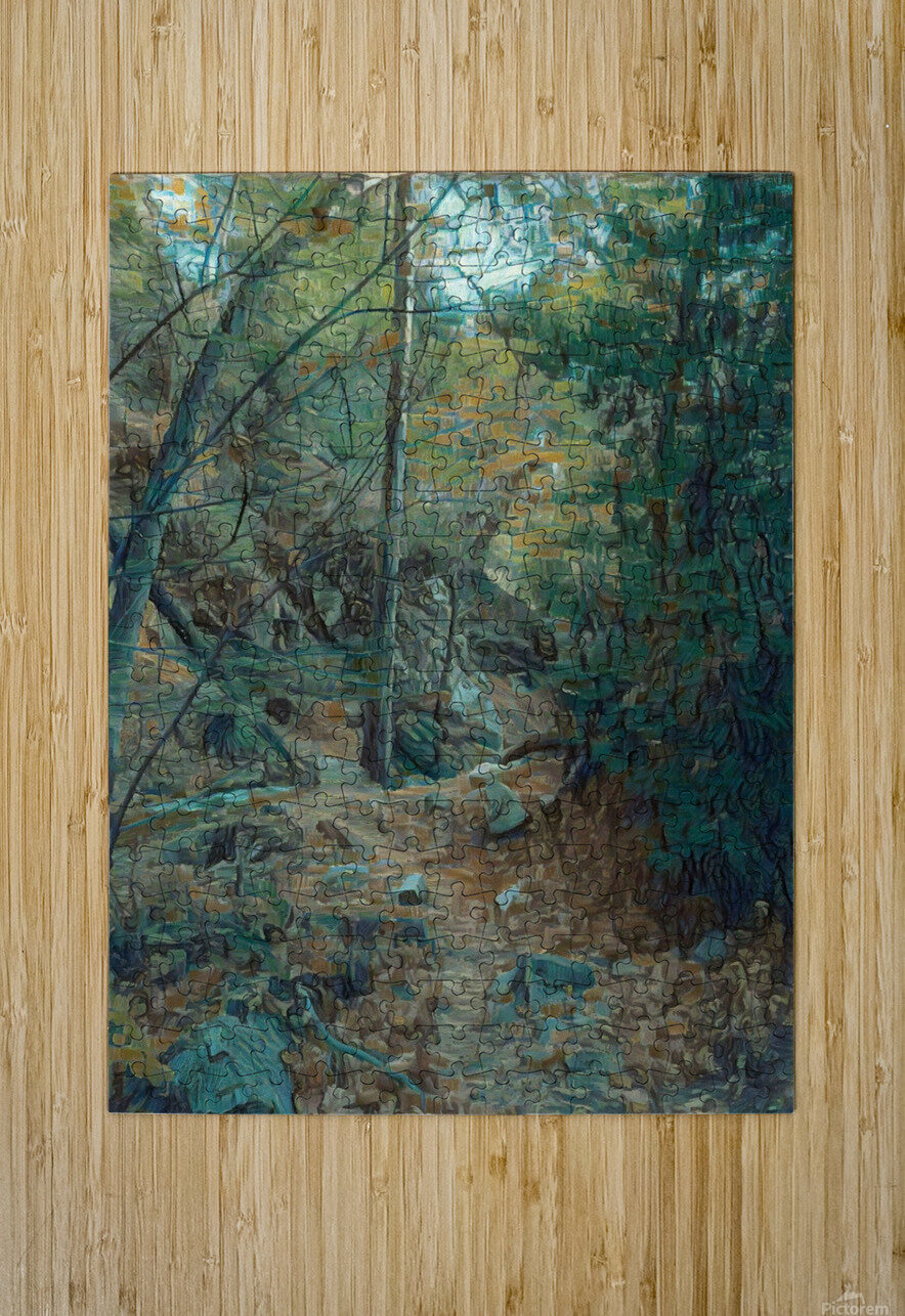 Mountain creek inspired by van Gogh  HD Metal print with Floating Frame on Back