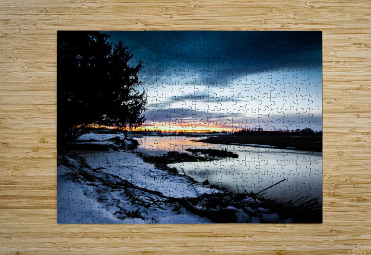 The Nith - Post Sunset  HD Metal print with Floating Frame on Back
