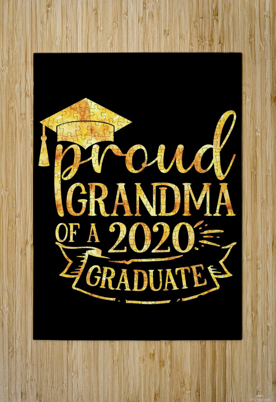 Proud Grandma of A 2020 Graduate  HD Metal print with Floating Frame on Back