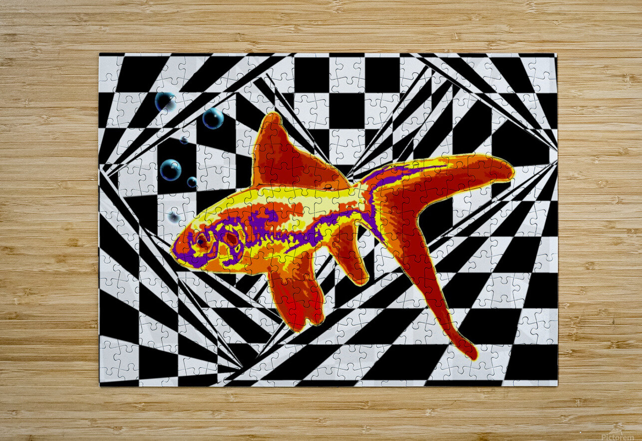 The Fish  HD Metal print with Floating Frame on Back