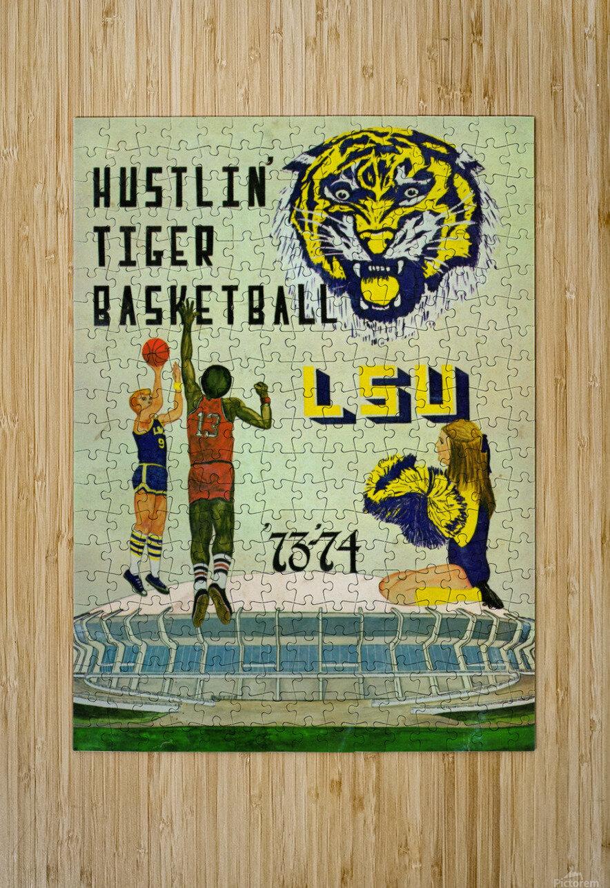 1973 Hustlin Tiger Basketball  HD Metal print with Floating Frame on Back
