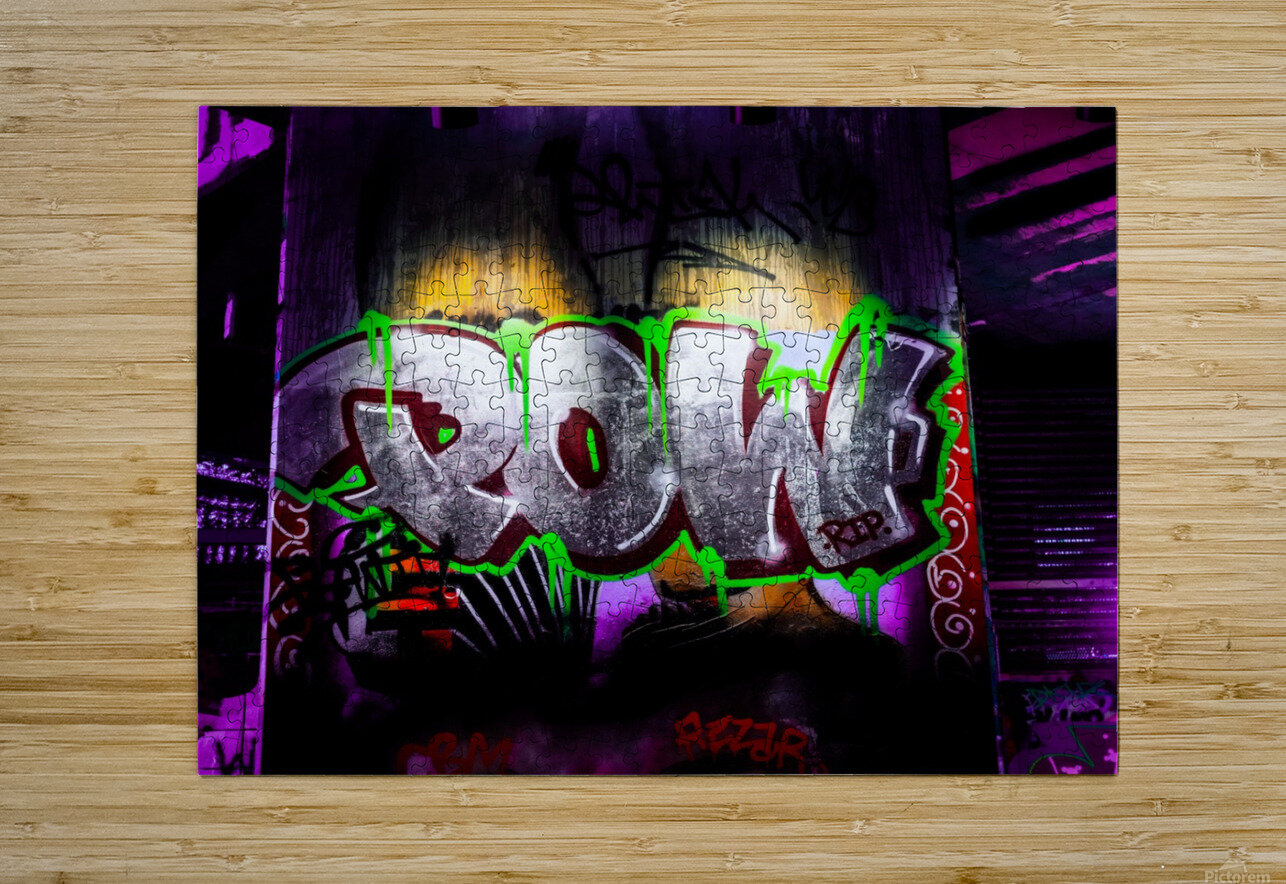 POW  HD Metal print with Floating Frame on Back