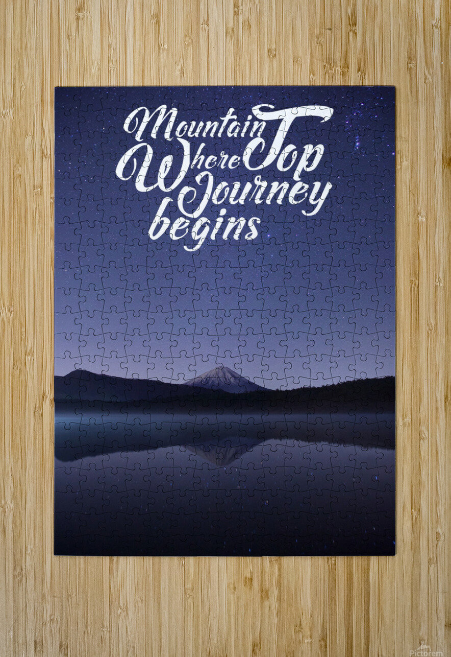 Mountain Top Journey  HD Metal print with Floating Frame on Back