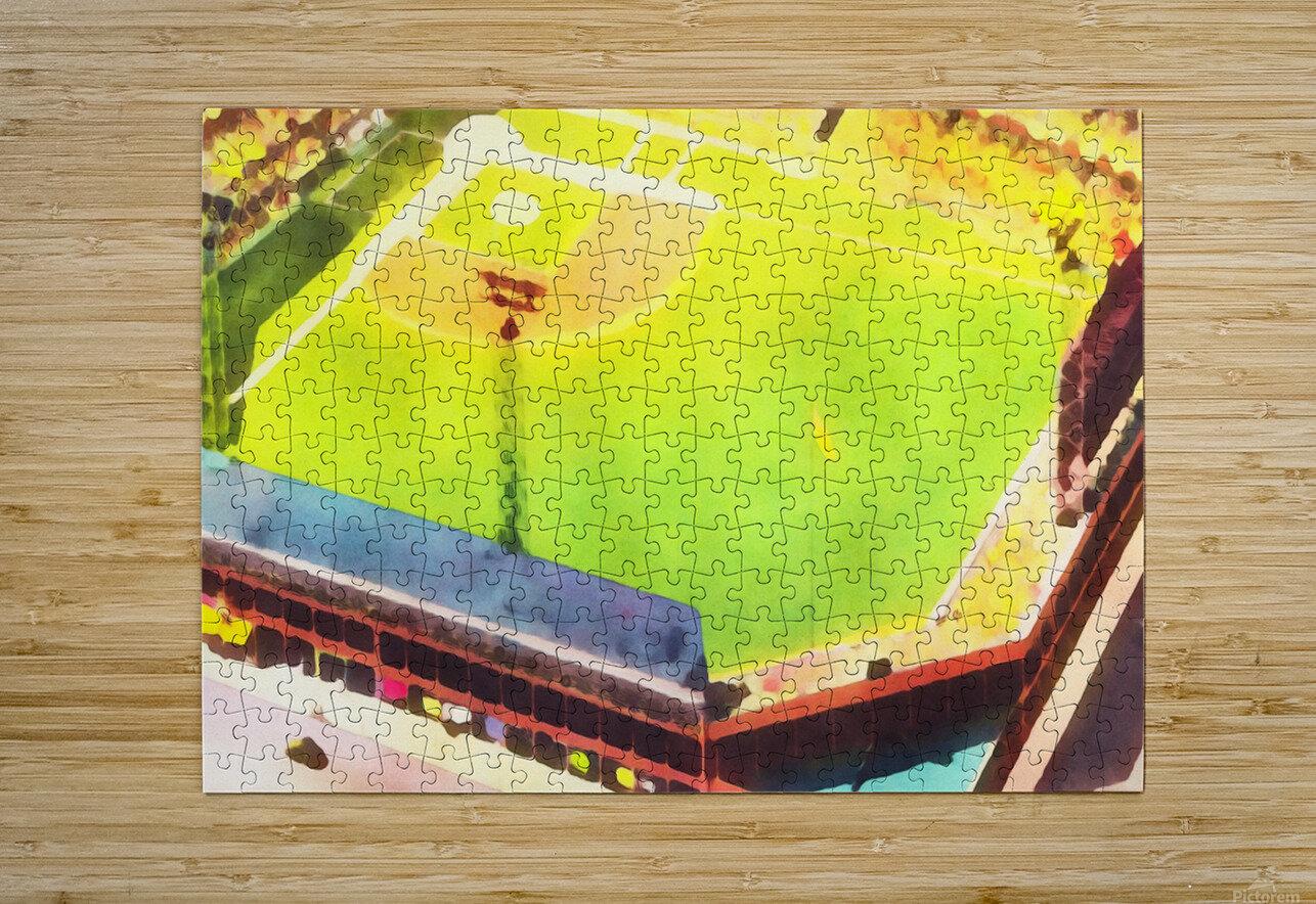 Baseball Ballpark Colorful Art Print  HD Metal print with Floating Frame on Back