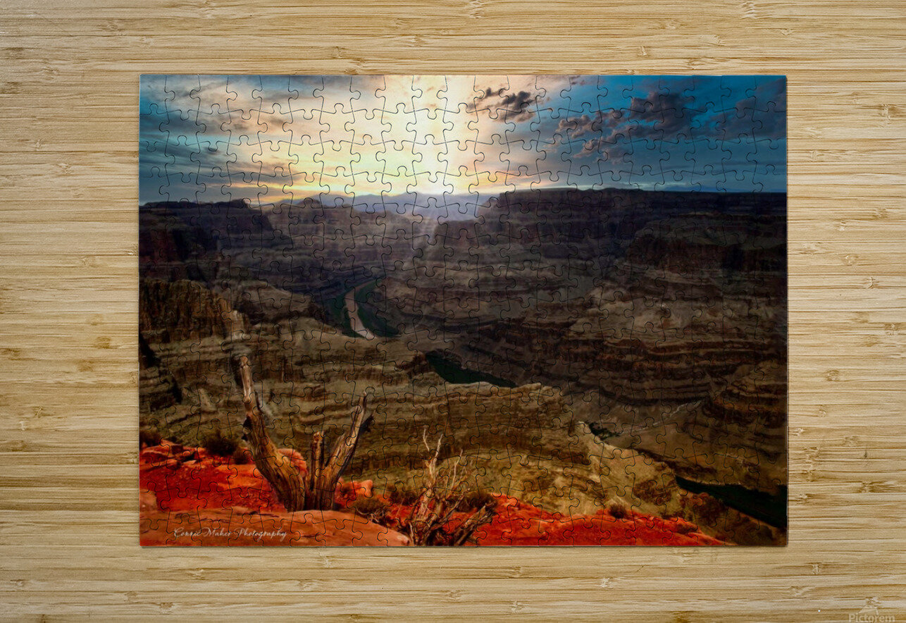Sunrise over Grand Canyon  HD Metal print with Floating Frame on Back