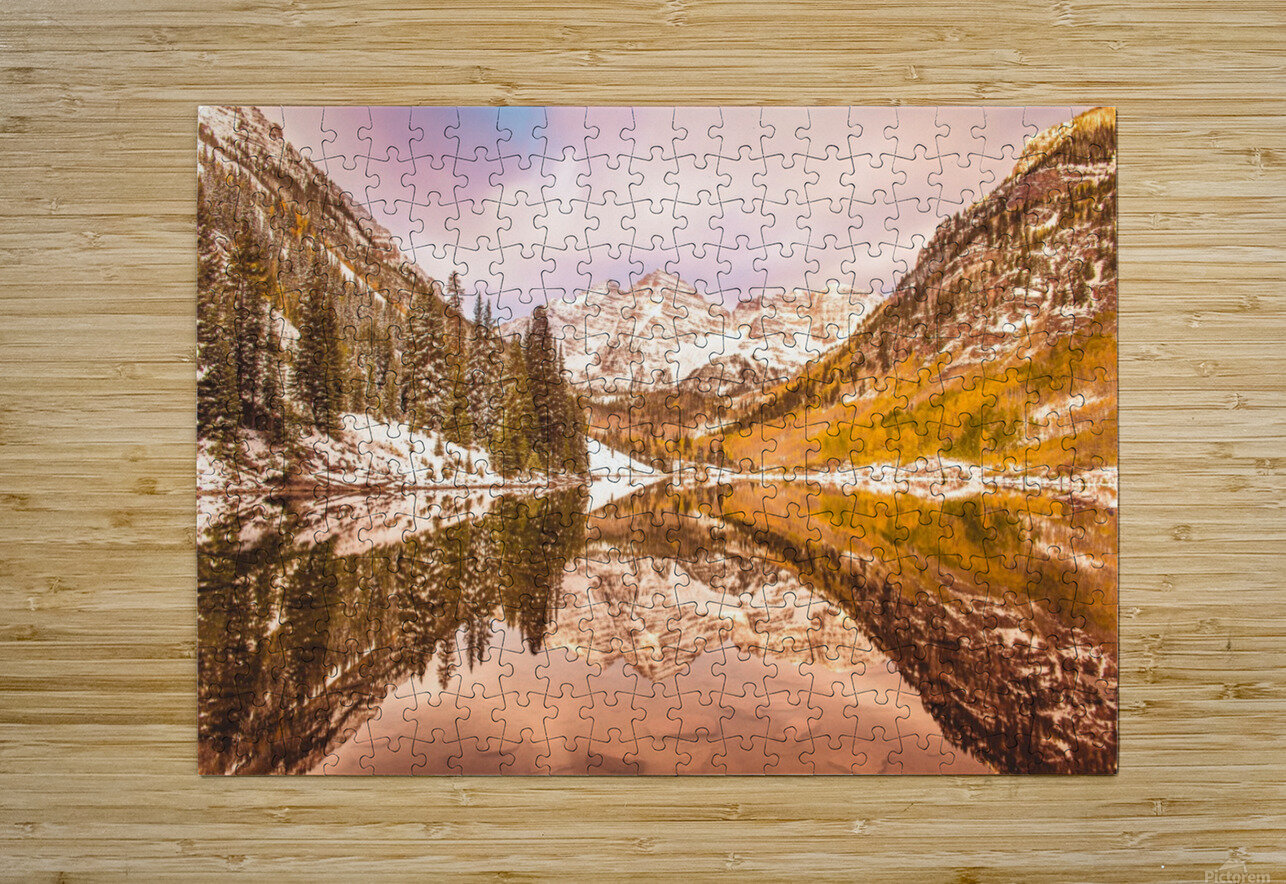 Maroon Bells Fall  HD Metal print with Floating Frame on Back