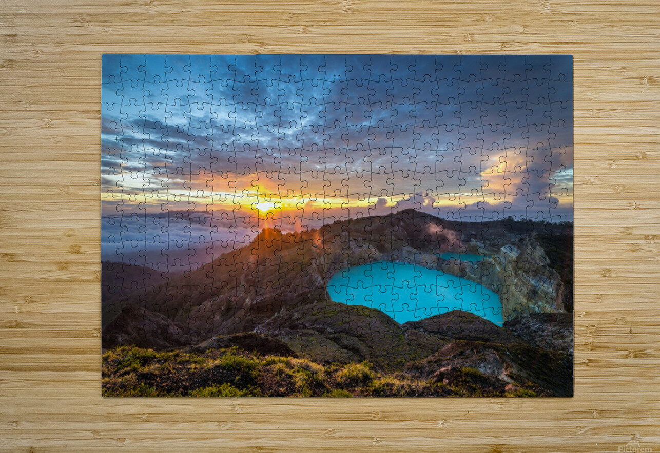 Indonesian Volcano  HD Metal print with Floating Frame on Back