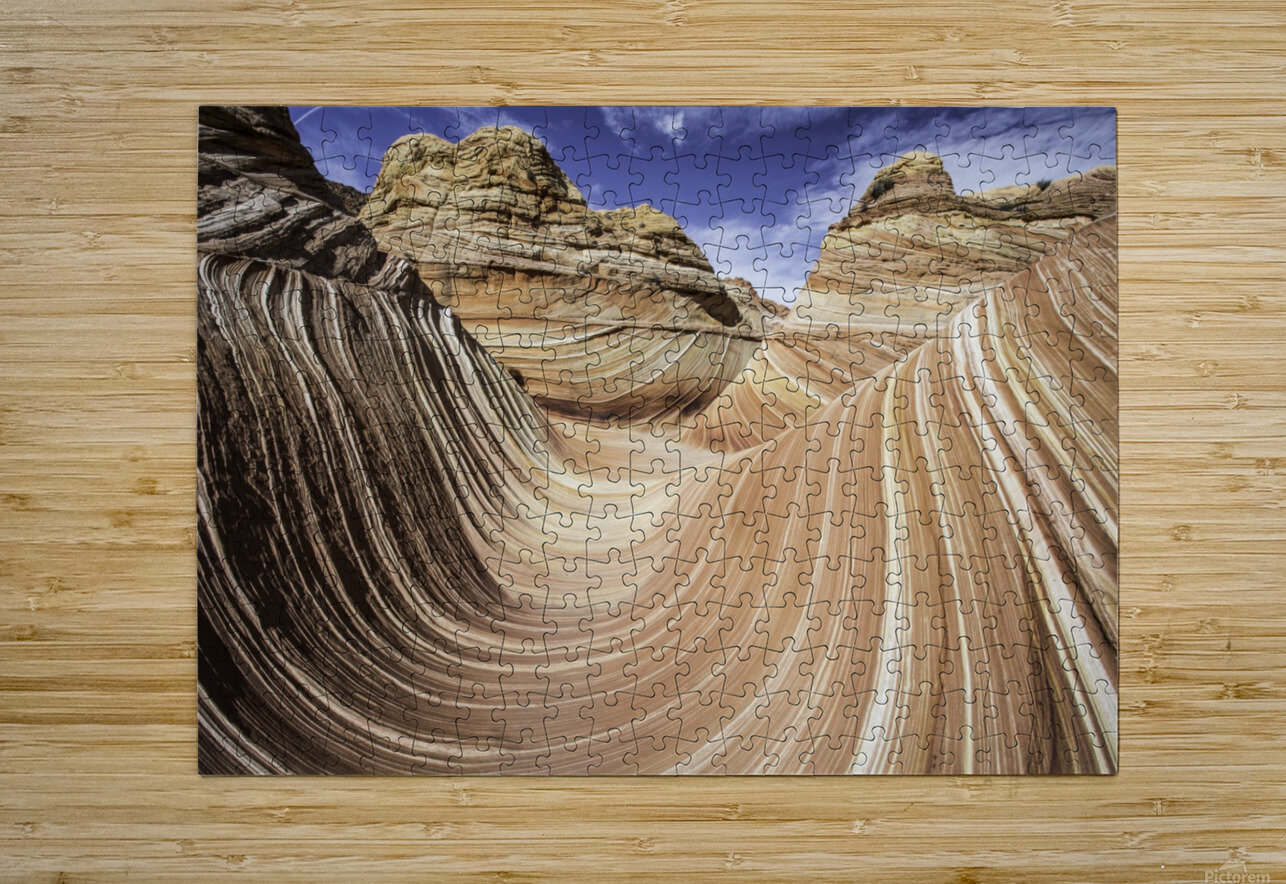 Sand Waves  HD Metal print with Floating Frame on Back