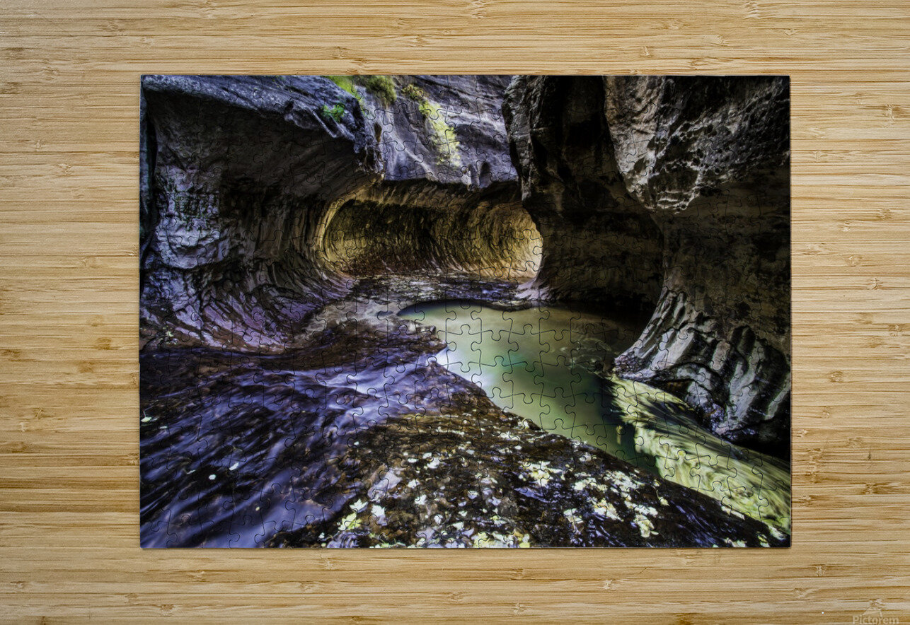 Mind the Gap  HD Metal print with Floating Frame on Back