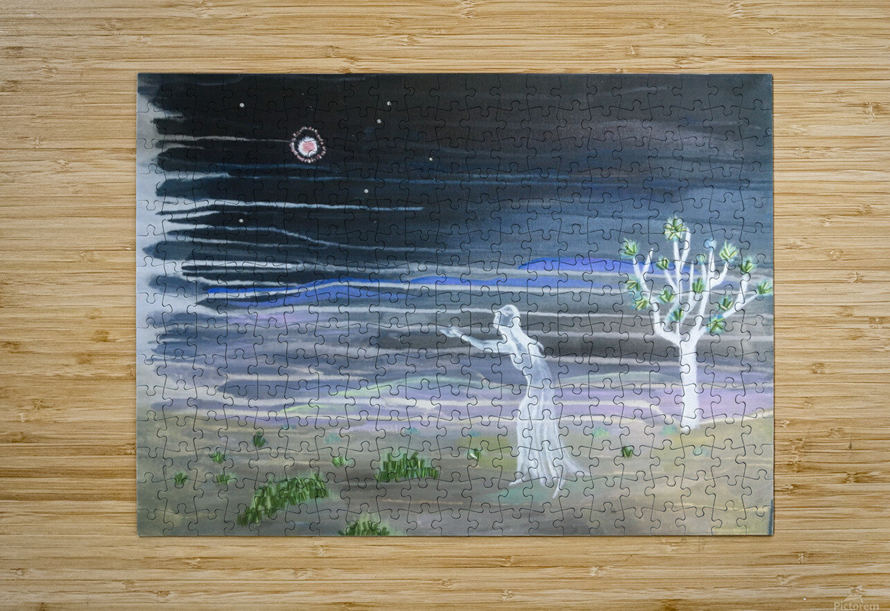 She chased the moon  HD Metal print with Floating Frame on Back