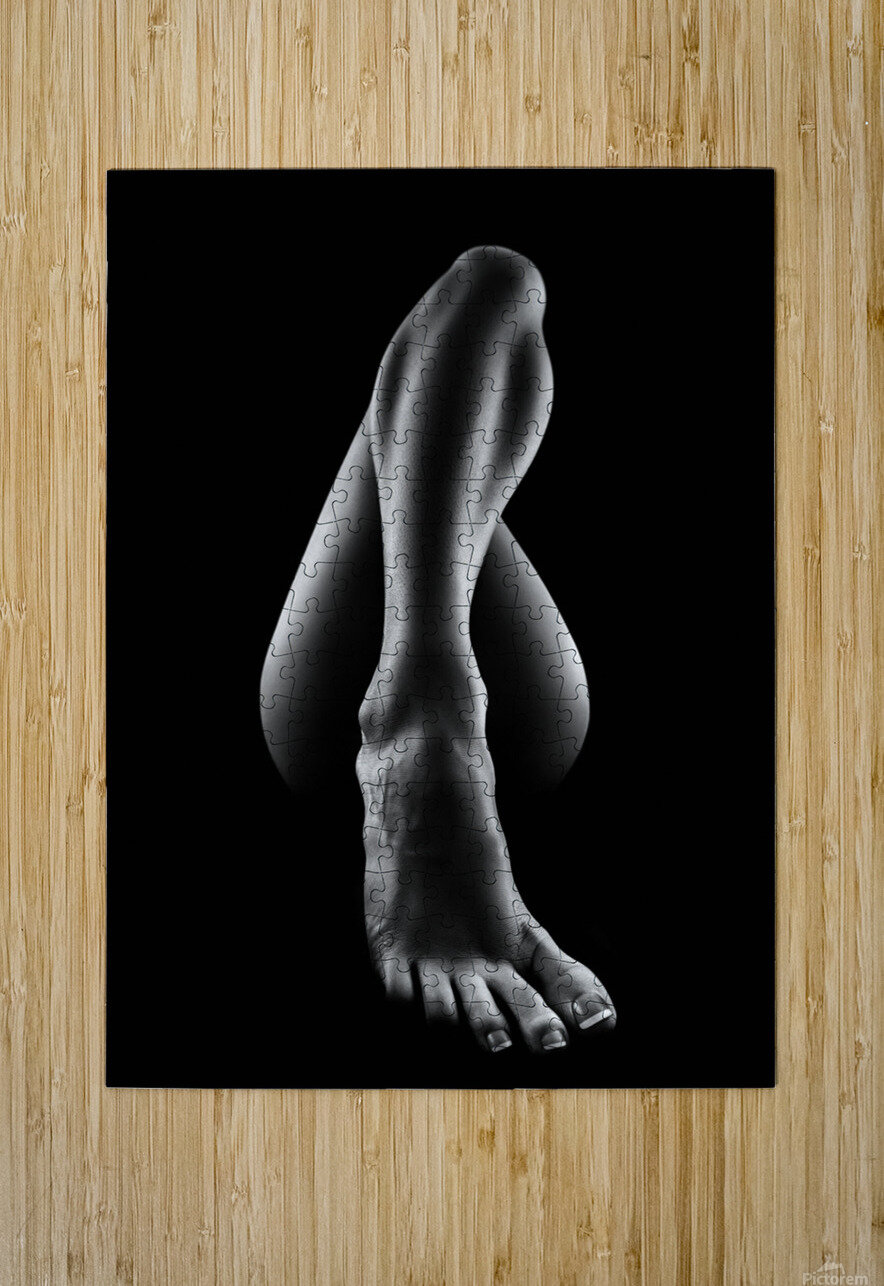 Nude woman bodyscape 56  HD Metal print with Floating Frame on Back