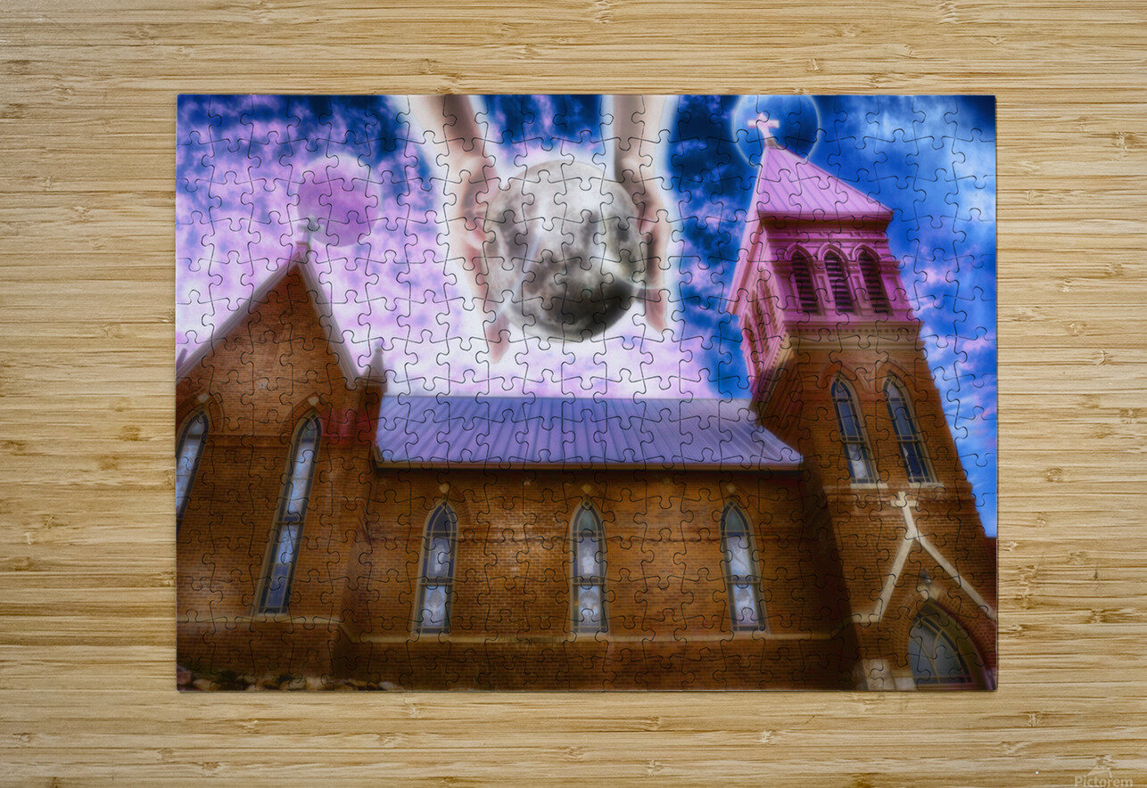 The Hands of God Church  HD Metal print with Floating Frame on Back