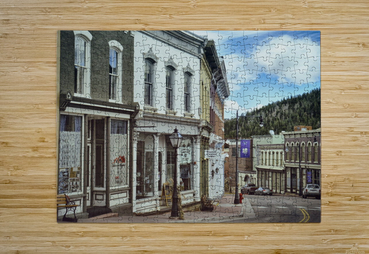 Old Town America  HD Metal print with Floating Frame on Back