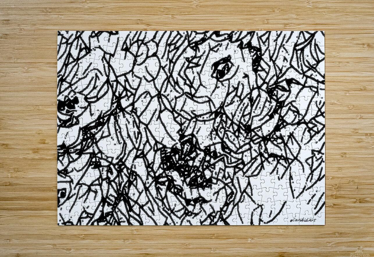 Black & White Art Transparent  HD Metal print with Floating Frame on Back