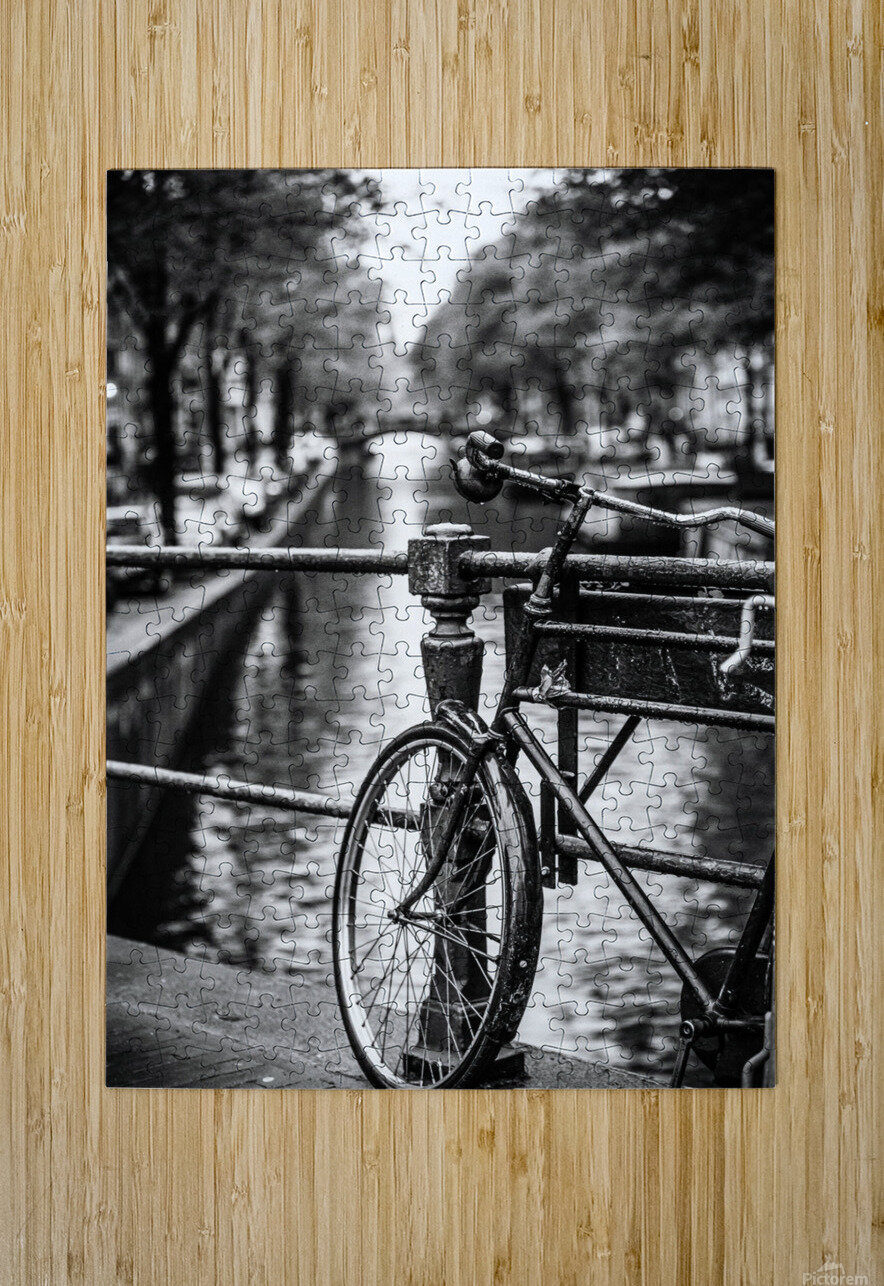 Amsterdam in a raining day  HD Metal print with Floating Frame on Back
