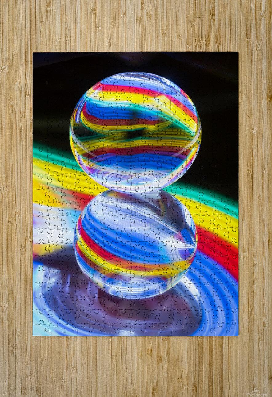 Crystal Ball  HD Metal print with Floating Frame on Back