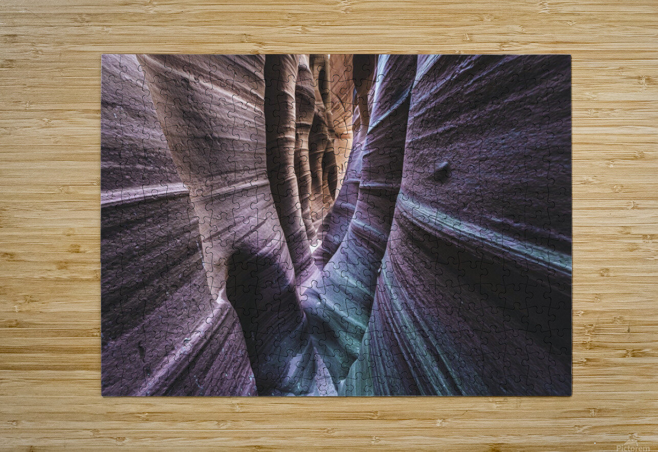 Zebra Slot Canyon  HD Metal print with Floating Frame on Back
