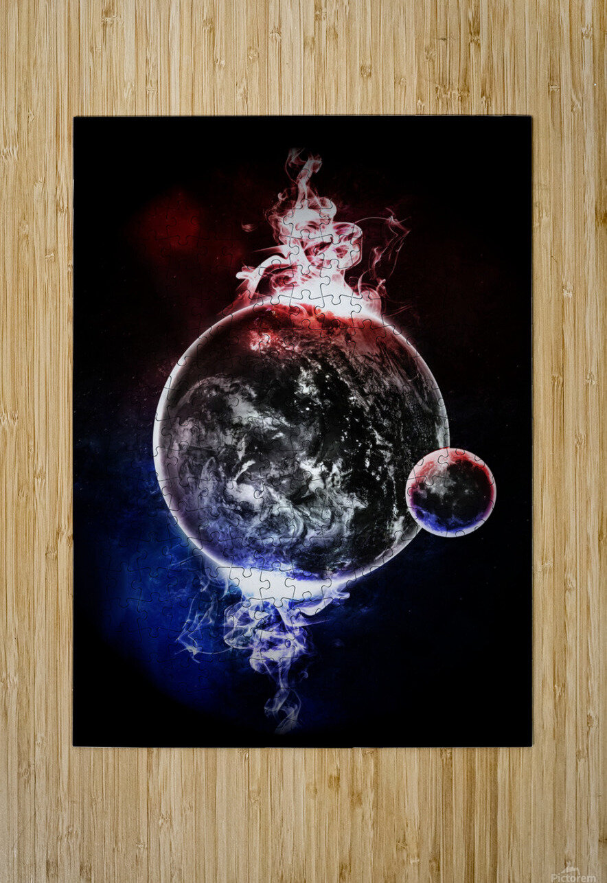 Earth Atmospheric Vapors  HD Metal print with Floating Frame on Back