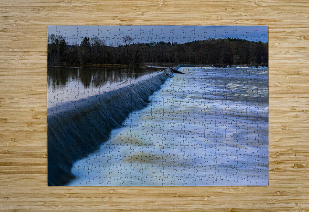 Savannah River Rapids in Columbia County   Augusta GA 6254  HD Metal print with Floating Frame on Back