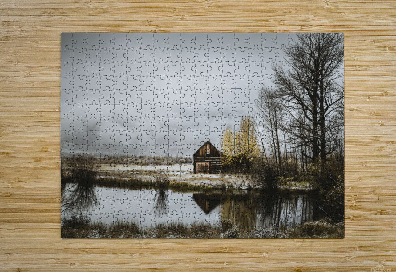 The Cabin  HD Metal print with Floating Frame on Back