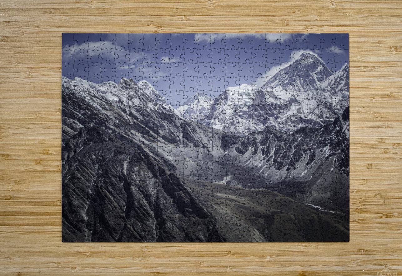 Everest  HD Metal print with Floating Frame on Back
