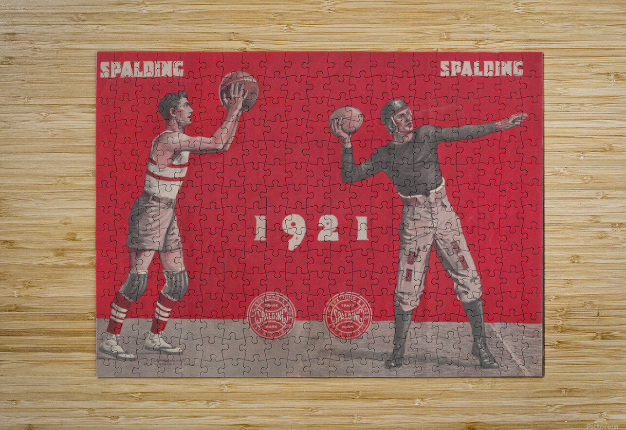 1921 Spalding  Ad  HD Metal print with Floating Frame on Back