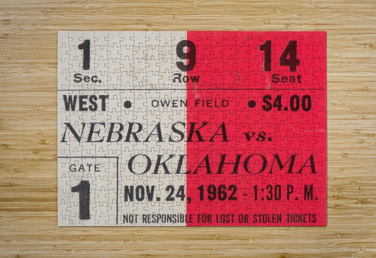 Oklahoma Sooners Owen Field Metal Sign_Ticket Stub Signs  HD Metal print with Floating Frame on Back
