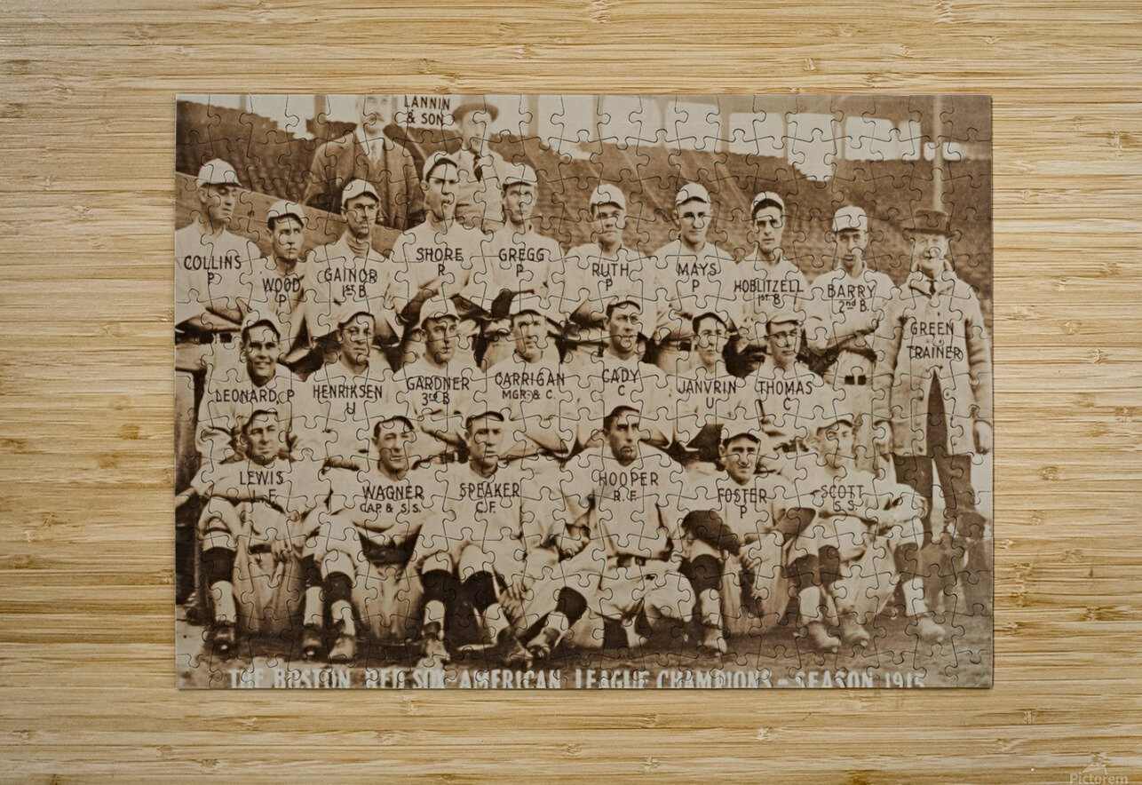 1915 Boston Red Sox Team Photo  HD Metal print with Floating Frame on Back