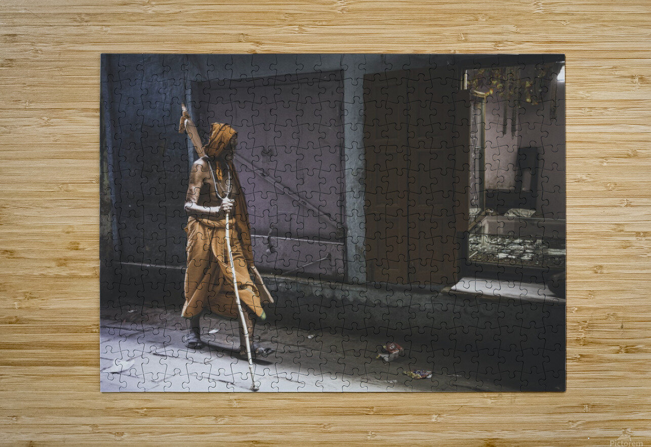 Varanasi Window - Walker  HD Metal print with Floating Frame on Back