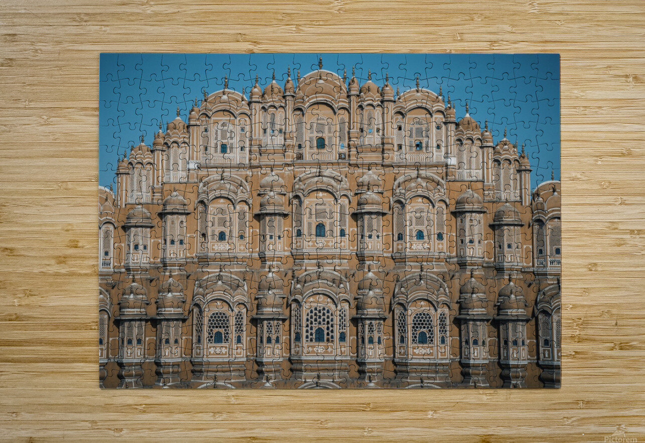 The Fortress - Hawa Mahal  HD Metal print with Floating Frame on Back