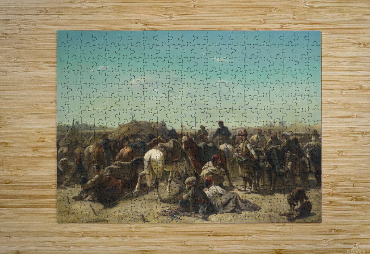 An Ottoman encampment  HD Metal print with Floating Frame on Back