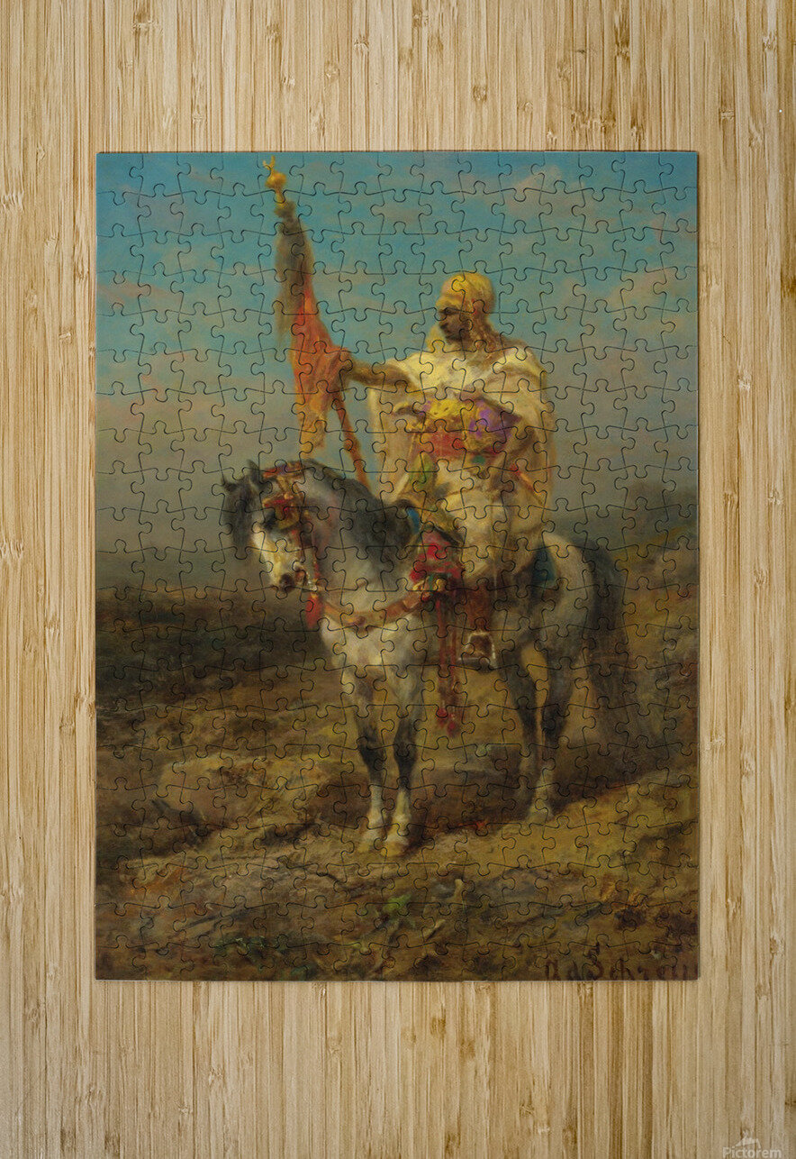 Arab rider  HD Metal print with Floating Frame on Back
