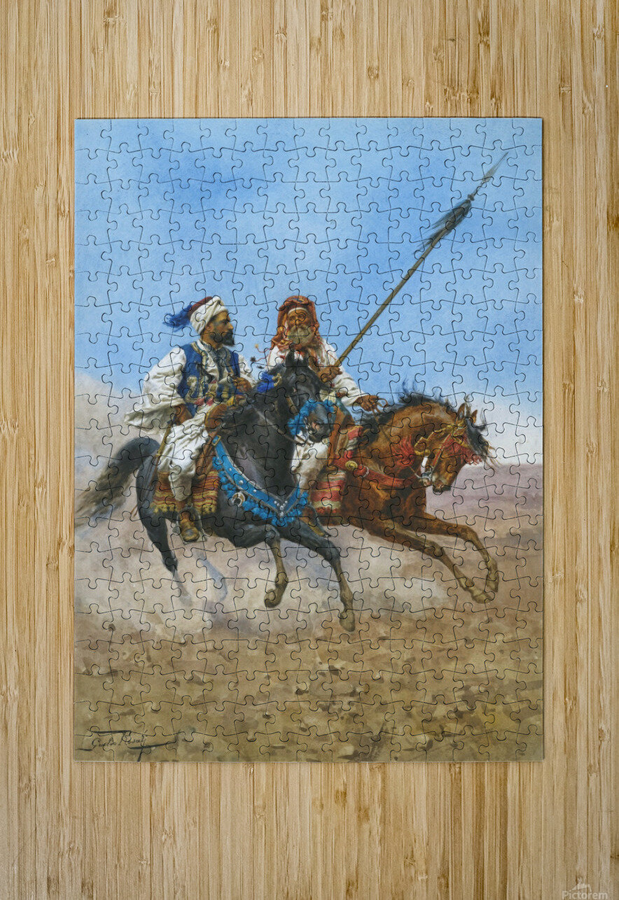 Arab riders  HD Metal print with Floating Frame on Back