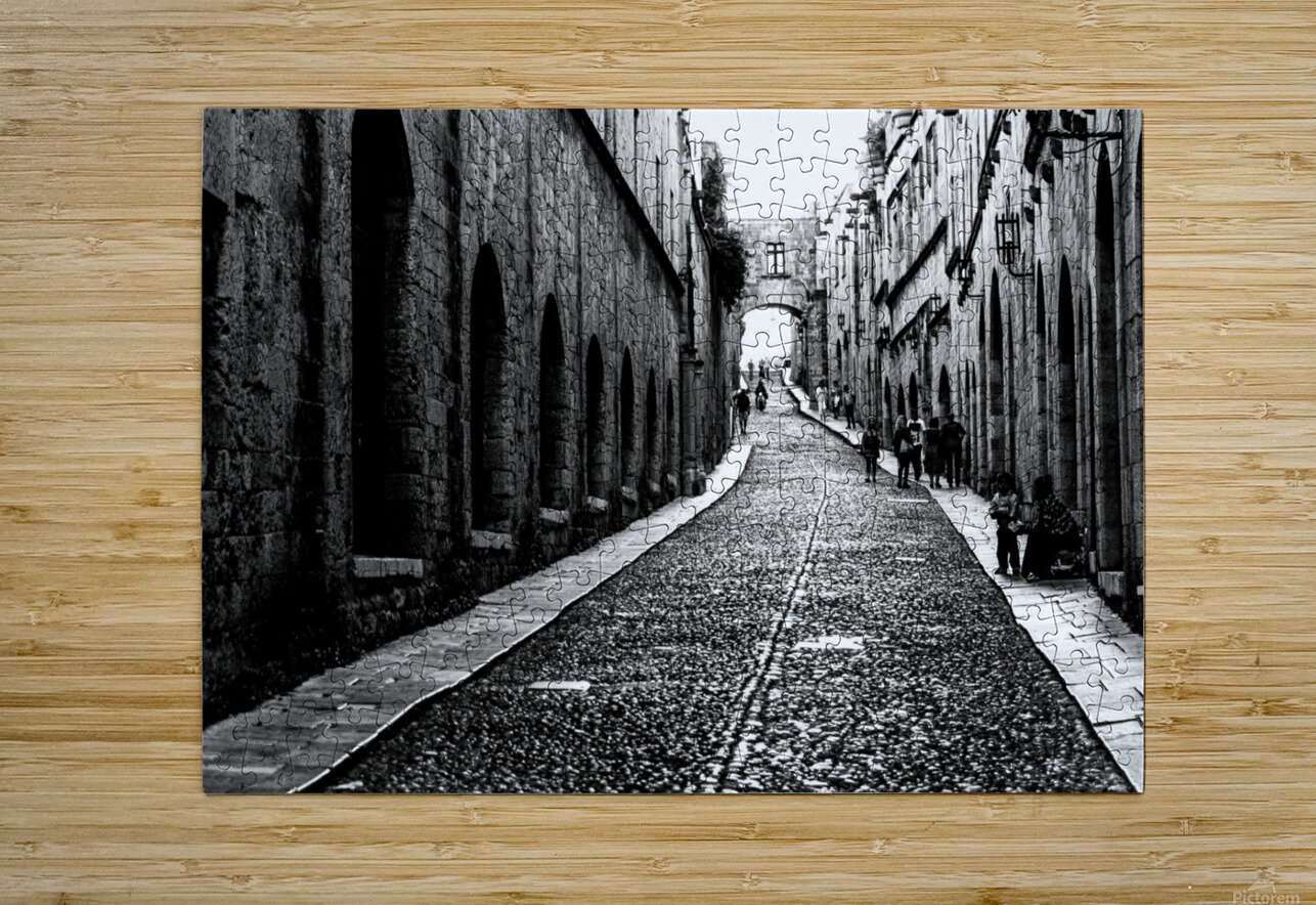 Street of the Nights  HD Metal print with Floating Frame on Back